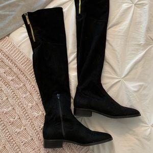 Ivanka Trump knee high suede boots